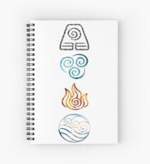Avatar the Last Airbender Element Symbols Spiral Notebook