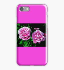 funky pinkish roses, green 05/22/17 iPhone Case/Skin