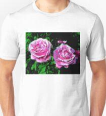 funky pinkish roses, green 05/22/17 Unisex T-Shirt