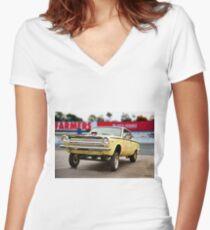 1964 Dodge Dart 'MoPar Madness' Gasser II Women's Fitted V-Neck T-Shirt