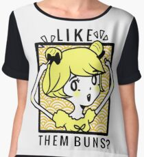 Golden Buns. Chiffon Top
