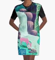 The Whispering Waters of Eventide Vale Graphic T-Shirt Dress
