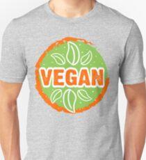 VEGAN, green, orange Unisex T-Shirt