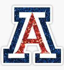 University of Arizona Sparkle Sticker