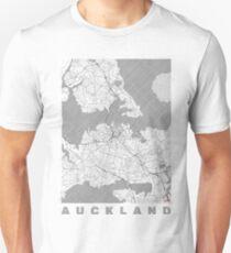 Auckland Map Line Unisex T-Shirt