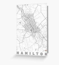 Hmilton Map Line Greeting Card