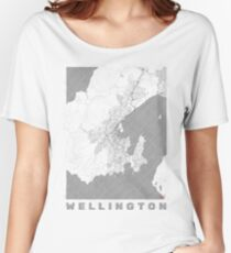 Wellington Map Line Women's Relaxed Fit T-Shirt