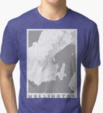 Wellington Map Line Tri-blend T-Shirt
