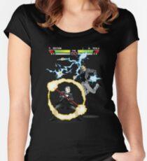 Tesla versus Edison Women's Fitted Scoop T-Shirt