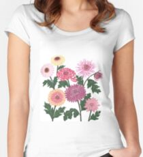 Purple and pink flower power Women's Fitted Scoop T-Shirt