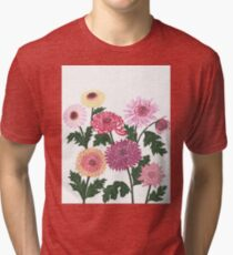 Purple and pink flower power Tri-blend T-Shirt