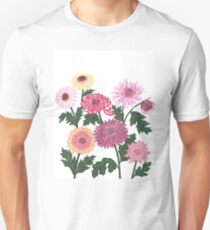 Purple and pink flower power Unisex T-Shirt