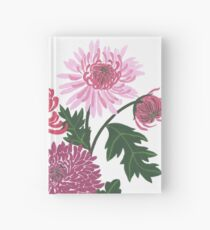 Purple and pink flower power Hardcover Journal
