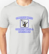 Conserve Water .. Shower With A Bartender T-Shirt