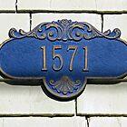 Blue Address Plaque by Ethna Gillespie