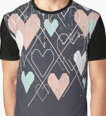 Geometrical hearts background Graphic T-Shirt