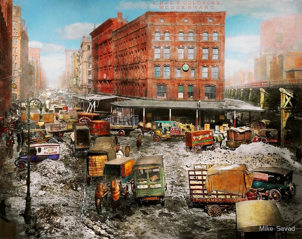 City - New York NY - Stuck in a rut 1920 by Michael Savad