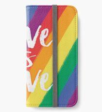 Love is love - Rainbow flag pride iPhone Wallet/Case/Skin