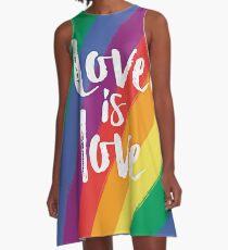 Liebe ist Liebe - Regenbogenflagerstolz A-Linien Kleid