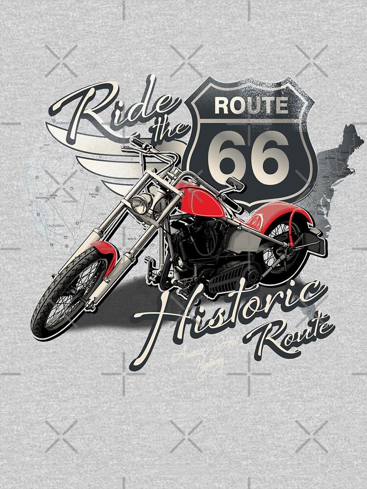 Motorcycle Ride Historic Route 66 by GarnetLeslie