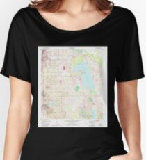 USGS TOPO Map Florida FL Dundee 345890 1953 24000 Women's Relaxed Fit T-Shirt