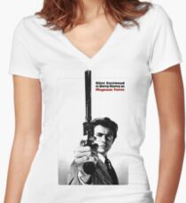 """Dirty Harry """"Magnum Force"""" Women's Fitted V-Neck T-Shirt"""