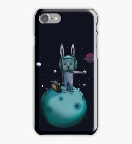 hitchhiking bunny iPhone Case/Skin