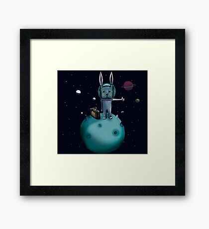 hitchhiking bunny Framed Print