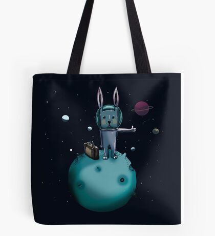 hitchhiking bunny Tote Bag