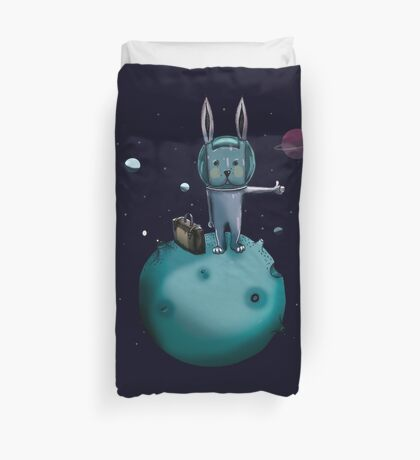 hitchhiking bunny Duvet Cover