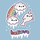 Believe in Narwhals by sugarhai