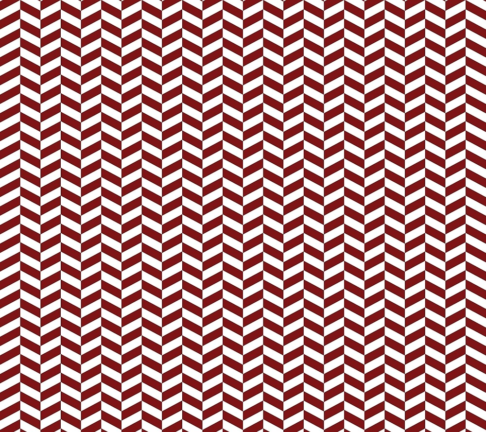 Maroon Red Herringbone Pattern Design by SkylineSquirrel