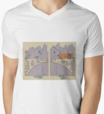 Bridge and City Bus Men's V-Neck T-Shirt