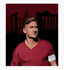 Marble and Sweat. Totti the legend Photographic Print