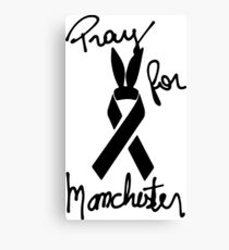 Pray For Manchester - Manchester Strong Canvas Print