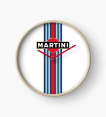 Martini Racing stripe Clock