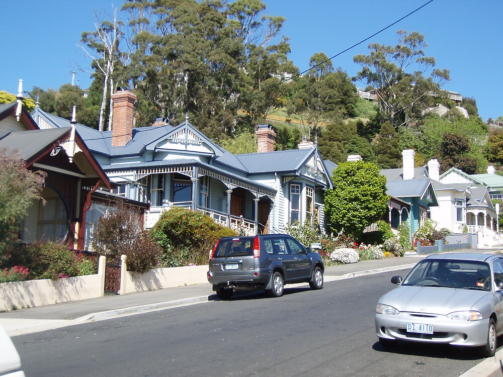 lovely Burnie houses - ? Federation style - I love the charm and welcoming feel by gaylene