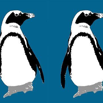 Black And White Penguin by gretassister