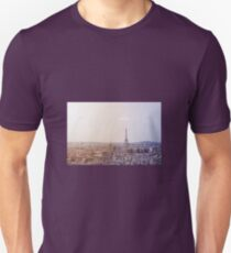 Cityscape of Paris, France. View of the Eiffel tower. Toned image. Unisex T-Shirt