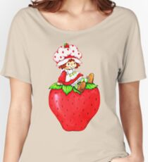 Strawberry Shortcake, strawberry classic 80s cartoon Women's Relaxed Fit T-Shirt