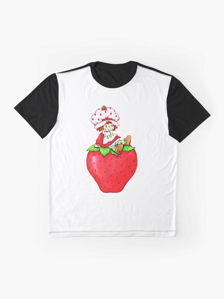 Alternative Ansicht von Erdbeerkuchen, Erdbeere klassische 80er Karikatur Grafik T-Shirt