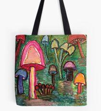 Mushroom Meeting Tote Bag