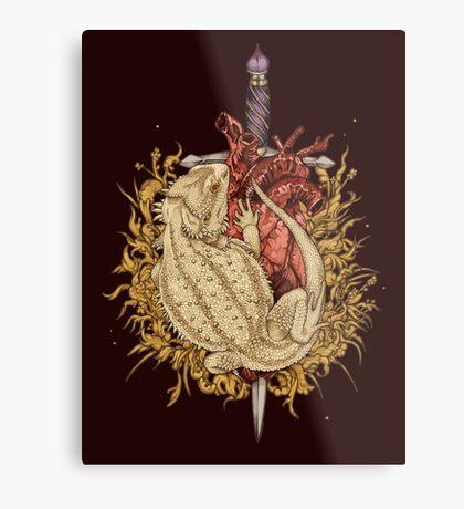 Gilded Dragon Metal Print