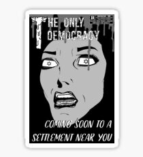 The Only Democracy Mock Film Poster Sticker