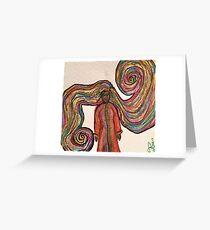 Goddess Hair Greeting Card
