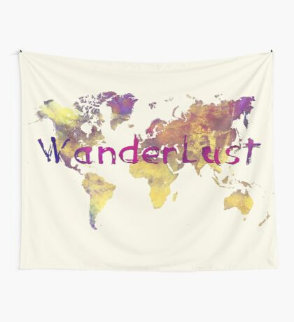 world map 90 wanderlust Wall Tapestry