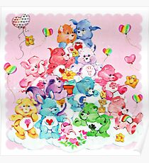 Care Bear, Care Bear Cousins, Retro 80s Cartoon Cute Poster