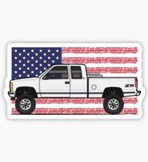 88-98 Weiße USA 4x4 Sticker