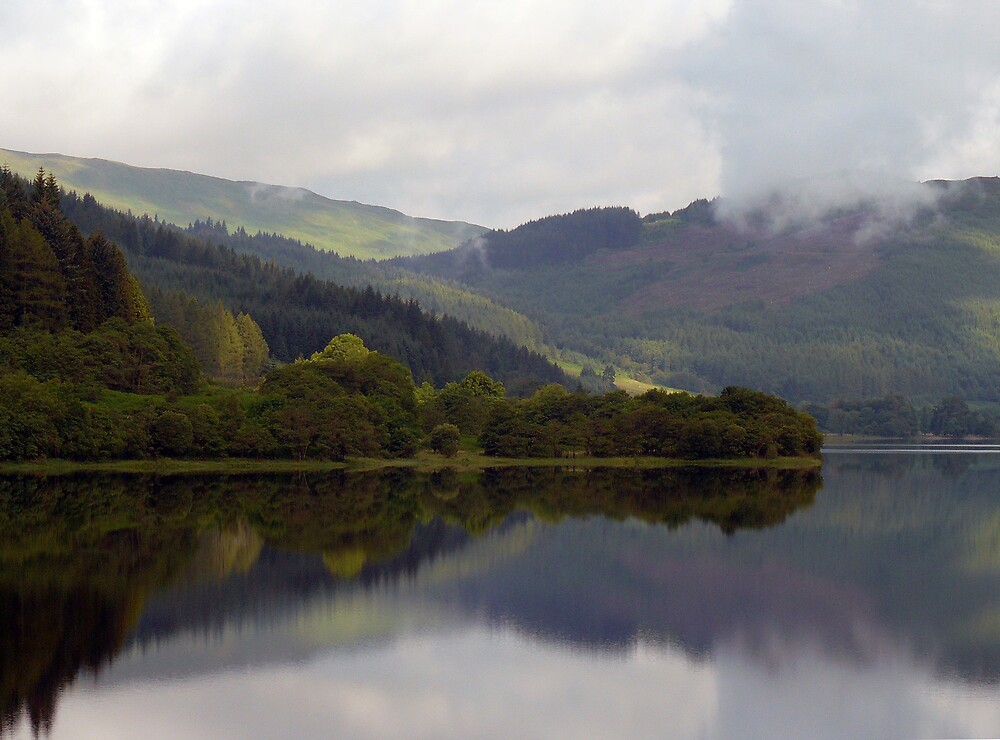Reflections in a Scottish Loch by BizziLizzy
