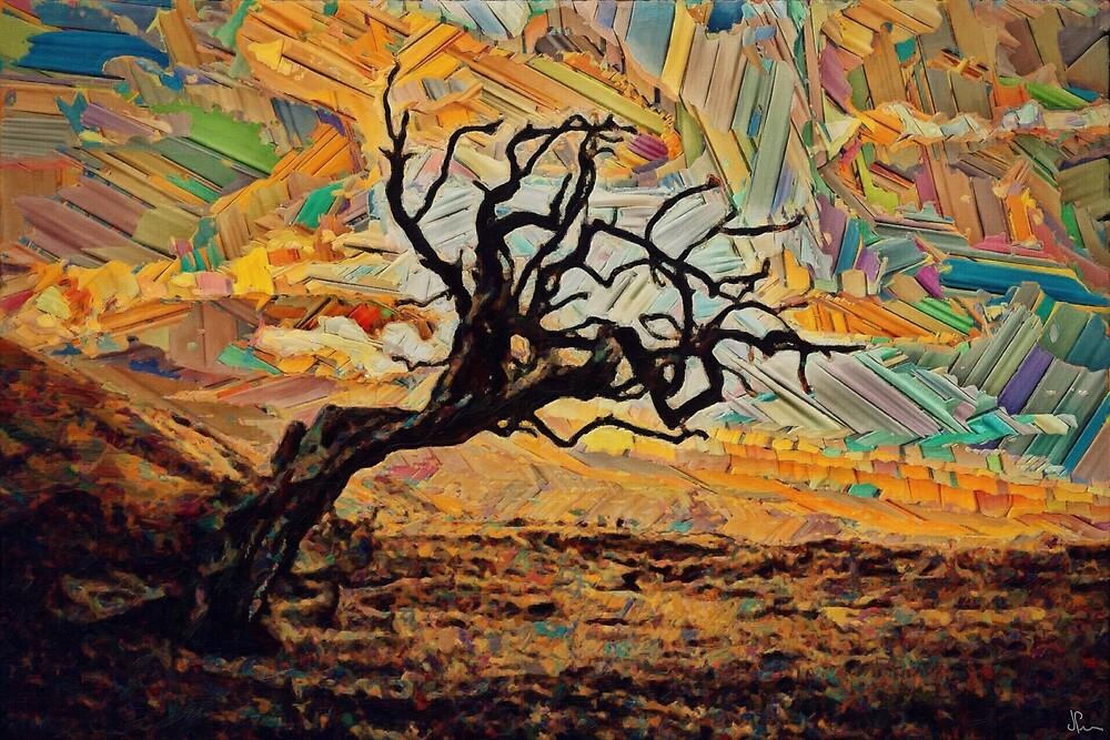 One tree, one sky. by John Patsfield